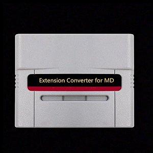 Adaptador Conversor Sega Genesis Mega Drive P/ Snes Super Nintendo