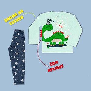 Pijama Manga Longa Dino