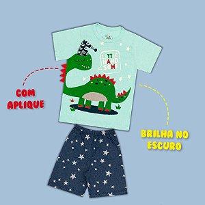 Pijama Manga Curta Dino