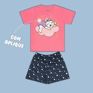 Pijama Manga Curta Ursinha