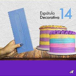 Espátula Decorativa cod 14 Azul