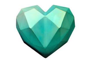 Forma de Acetato Especial CORACAO DIAMOND 500 GR