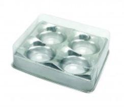 Candy Box Prata Metalizado p/ 4 doces pct c/10
