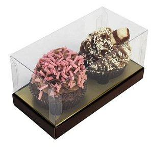 Caixa 2 Cupcakes marrom pct c/10