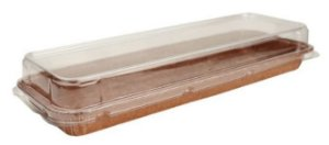 Forma Forneável Longa com tampa 27,2 x 82 x 22 cm pct c/5