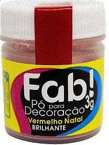 Pó p/ Decoração FAB Vermelho Natal 3g