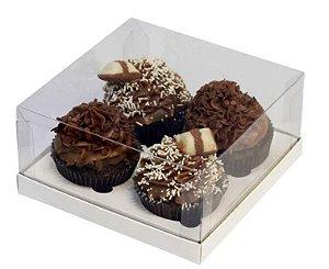 Caixa 4 Cupcakes Branca pct c/10