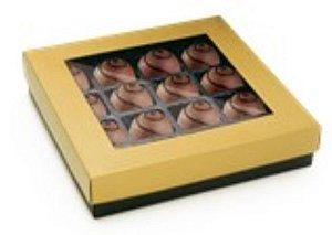 Caixa p/ 16 doces Garbo Ouro