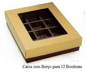 CAIXA P/12 BOMBONS GARBO OURO