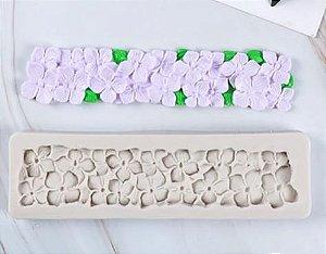 Molde Silicone Textura Floral