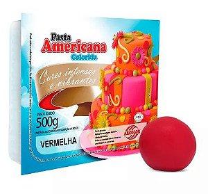 Pasta Americana Arcolor 500g Vermelha