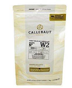 Chocolate Belga Callebaut Branco W2 28% Cacau Gotas 1 Kg