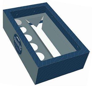 Caixa 6 Doces + Long Neck Azul Pct c/10