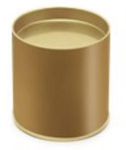 Lata Ouro p/ Doces 8,5 x 7,5 cm