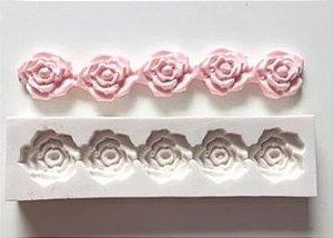 Molde Silicone 5 Rosas