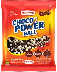 CEREAL MINI LEITE/BRANCO CHOCO POWER BALL 500 G