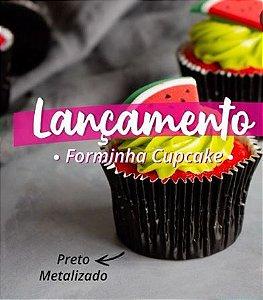 Forminha Preta Metalizada N°0 p/ cupcake pct c/ 45 Mago