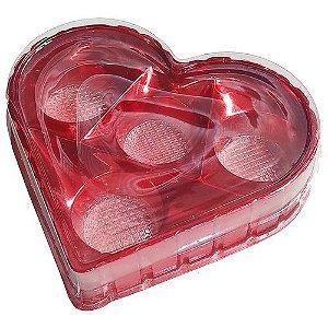 Caixa Coração Candy Box Vermelha 4 doces Pct c/ 10