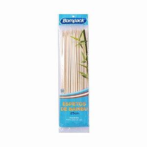 Espeto de bambu 25 cm pct c/50