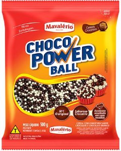 CEREAL MICRO LEITE/BRANCO CHOCO POWER BALL 500G