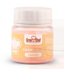 Corante Lipossoluvel Candy Colors em Po Gran Chef - Laranja - 5g