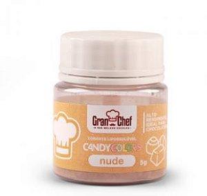 Corante Lipossoluvel Candy Colors em Po Gran Chef - Nude - 5g