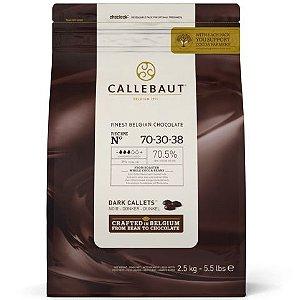 Chocolate Belga Callebaut Amargo 70-30-38 70% Cacau Gotas 2,5 Kgs