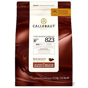 Chocolate Belga Callebaut Ao Leite 823 33,6% Cacau Gotas 2 Kgs