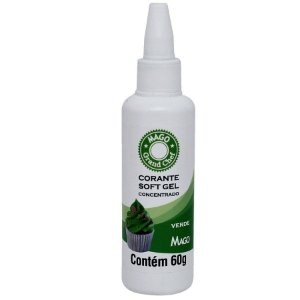 Corante Softgel Verde 60 ml Mago