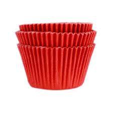 Forminha Vermelho N°0 p/ cupcake pct c/ 45 Mago