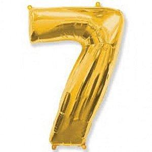 Balão Metalizado 75cm Dourado N°7