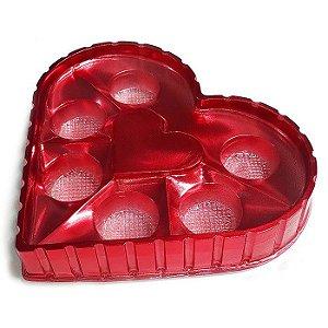 Caixa Coração Candy Box Vermelha 6 doces Pct c/ 10