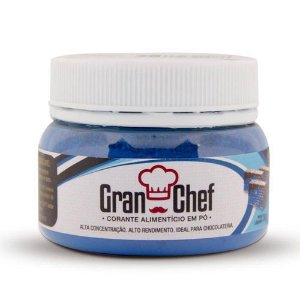 Corante em Pó Lipossolúvel Gran Chef - Azul - 30gr