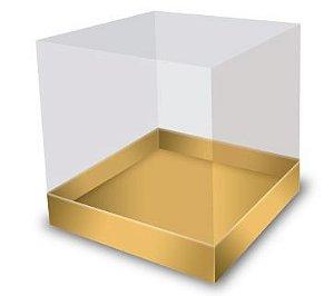 Caixa Bolo Luxo 19 x 19 x 29 cm Dourada