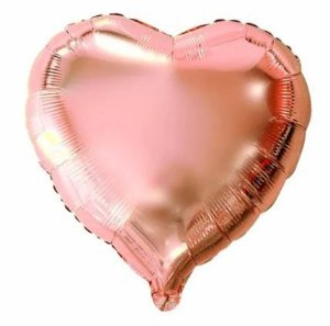 Balão Metalizado Coração 25cm Rose Gold
