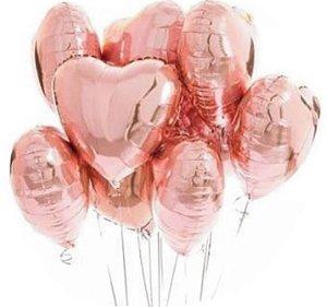 Balão Metalizado Coração 45cm Rose Gold