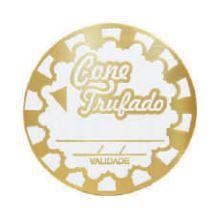 ETIQUETAS CONE TRUFFADO DECORADO c/50 UNID