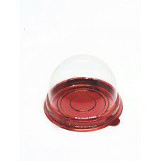 Mini Cake Box Redonda Vermelho Metalizado pct c/10