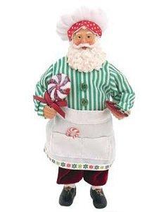Papai Noel Gourmet Luxo 27cm Decorativo Importado