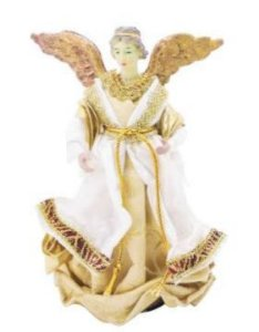 Anjo Plus Seda Dourado 25cm Lançamento