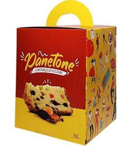 Embalagem - Caixa Panetone 250g - Tam. 90x90 -