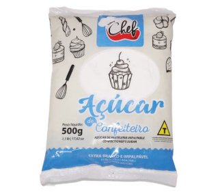 ACUCAR DE CONFEITEIRO 500 G