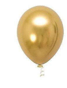 Balão Latéx Sempertex Metal Ouro 10 polegadas (unidade)