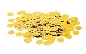 Confete Metalizado Bola 1,5cm Dourado Para Ballon Cake 100g