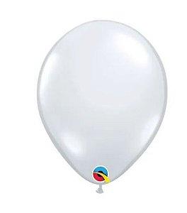 Balão 9 Diamond Clear Qualatex Incolor