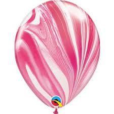 Balão 11 Superagate Red & White 11 polegadas (unidade)
