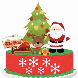 Topo de Bolo Feliz Natal III