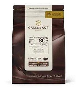 Chocolate Belga Callebaut Meio Amargo 805 50,7% Cacau Gotas 2,5Kg