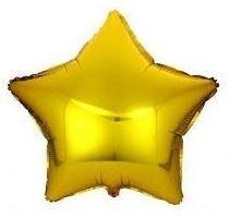 Balão Metalizado Estrela 45cm Dourado
