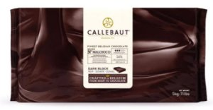 Chocolate Belga Callebaut Malchoc Meio Amargo DIET Barra 5Kgs